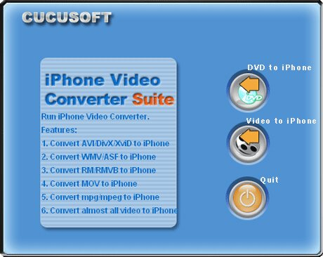 convert avi to iphone software interface